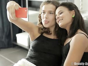 Finger Fucking And Licking With Lesbian Girlfriends