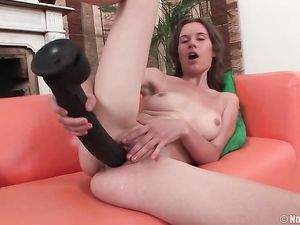 Slut Loves Her Toys Really Big For Pussy Stretching