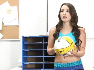 Volleyball Babe Blows And Bones A Guy In Class