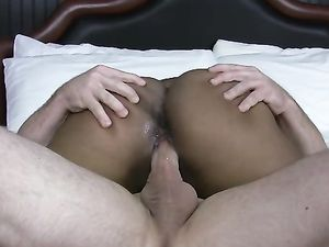 Great Curves On A Horny Black Chick That Goes White