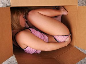Petite Babe In A Box Unwrapped And Fucked Hard