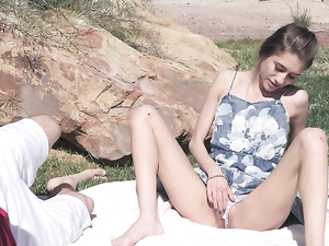 Seducing A Teen At The Park For Outdoor Sex