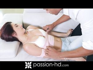 Perky Girl Rides His Eager Tongue And Hard Cock