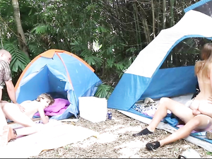 Camping Foursome With The Cutest Sluts