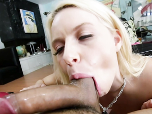 Sweet And Sexy Anikka Albrite Sucks Dick In Spandex Pants